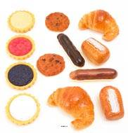 Patisséries artificielles assorties en lot de 12 en Plastique soufflé