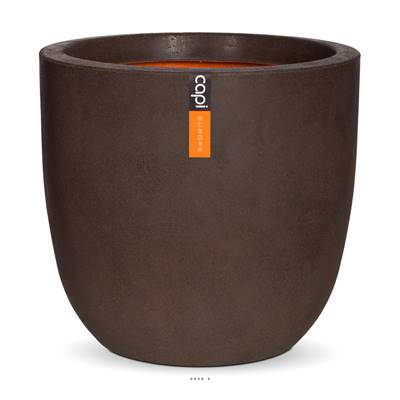 Bac en plastique top qualité Int/Ext. eggpot 35x34 cm marron