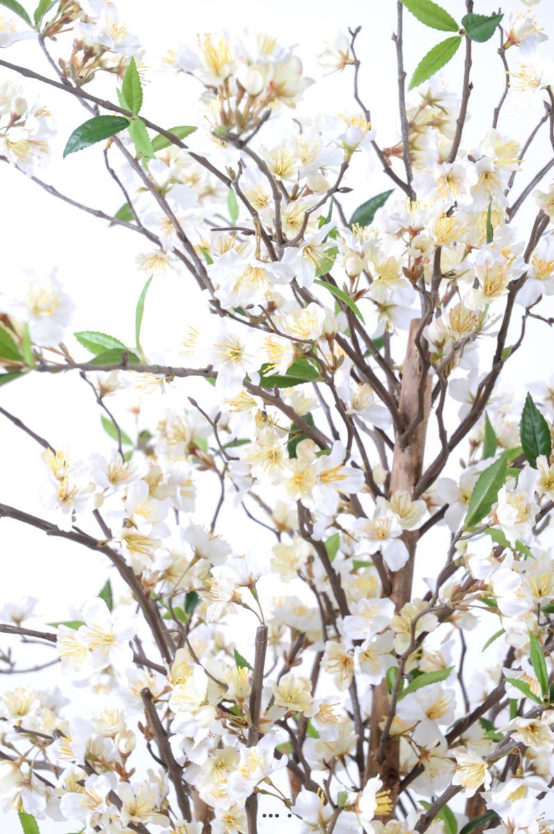Hauteur Cerisier Du Japon cerisier en fleurs artificiel 10 troncs bois en pot h 150 cm