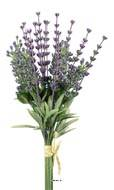 Bouquet de Lavande artificielle, 18 tiges, H 27 cm