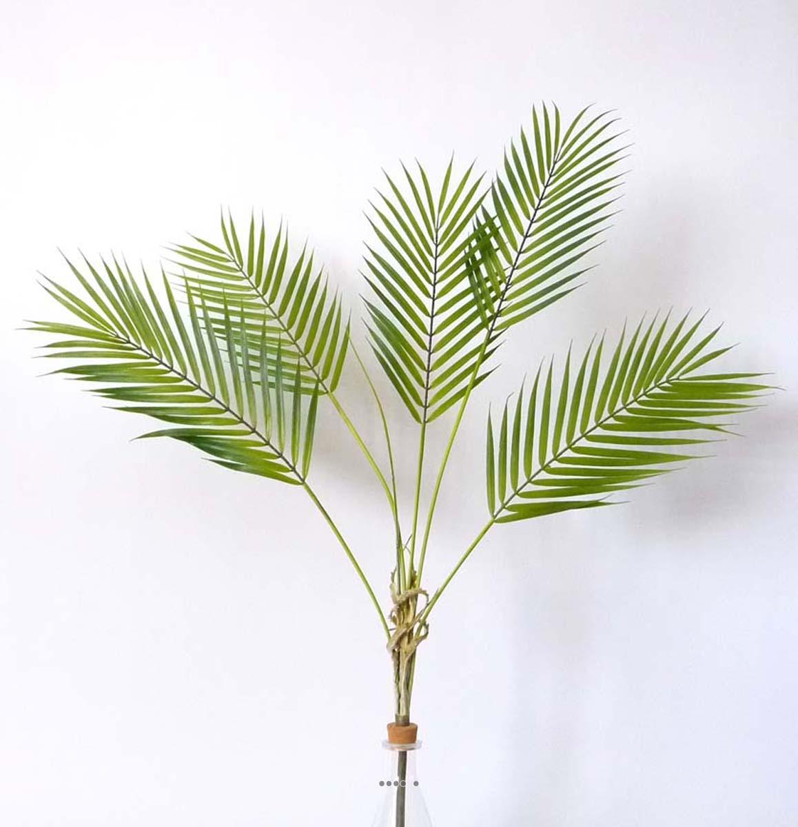 Piquet artificiel de 5 feuilles de palmier phoenix h 83 cm for Feuille palmier artificiel