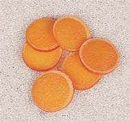 Tranche d Orange artificielle en lot de 6 en Plastique soufflé D 60 mm