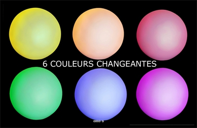 Boule a Led 6 couleurs D 8 cm Pile incluse Top ambiance en soiree
