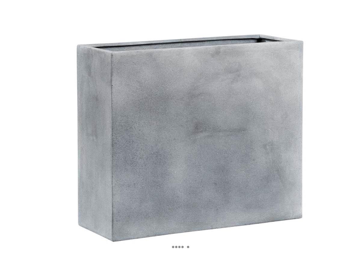 bac fibre de verre huge exterieur claustra l 100x40xh 80cm gris fonce du site. Black Bedroom Furniture Sets. Home Design Ideas