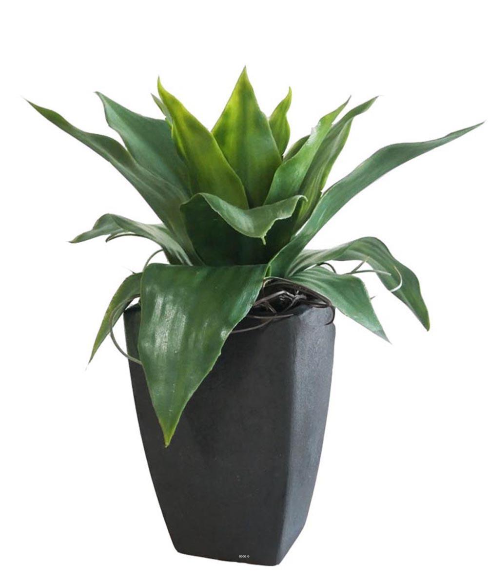 Plante Haute En Pot agave succulente plante artificielle cactee en pot h 35 cm vert type c
