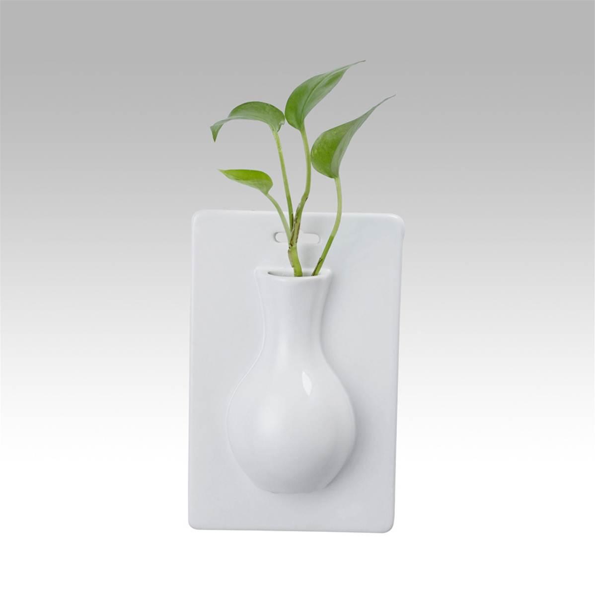 Vase fleurs coupe cache pot soliflores mural Objet decoration murale design
