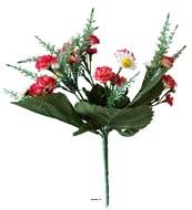 Bouquet de Marguerites et mini oeillets artificiels Hauteur 28 cm Top Rose fushia