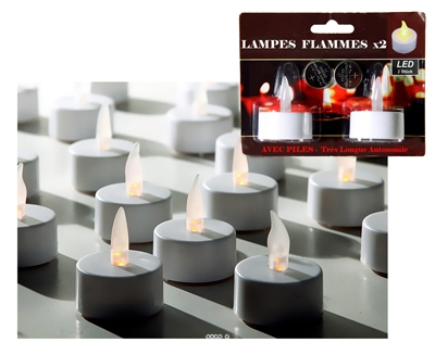 lampes flammes a led x 2 avec pilestop ambiance en soiree du site. Black Bedroom Furniture Sets. Home Design Ideas