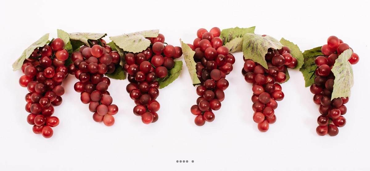 raisin rouge artificiel 51 grains x 6 en plastique souffl l 16 cm. Black Bedroom Furniture Sets. Home Design Ideas