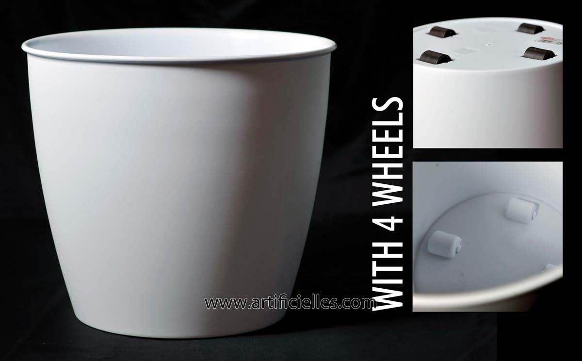 bac cache pot blanc roulettes du site. Black Bedroom Furniture Sets. Home Design Ideas