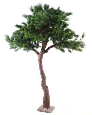 Pin arbre artificiel h 280 cm tronc fibre de verre for Arbres en plastique artificiels