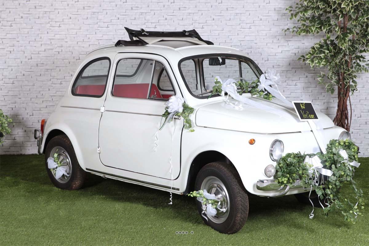 Kit decoration mariage Blanc pour voiture complet tout en un