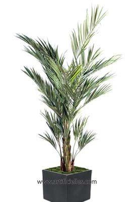 Palmier kentia artificiel en pot superbe de realisme du for Palmier factice